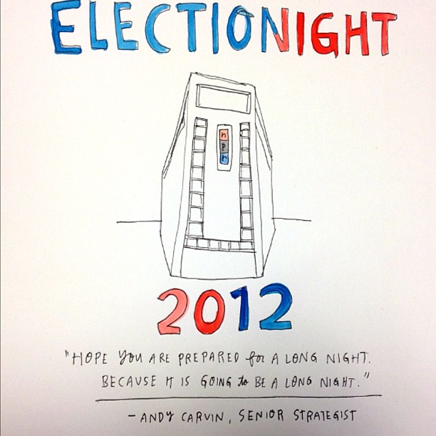 wendymacnaughton :     Here we go.     my favorite kind of election coverage: real-time sketches