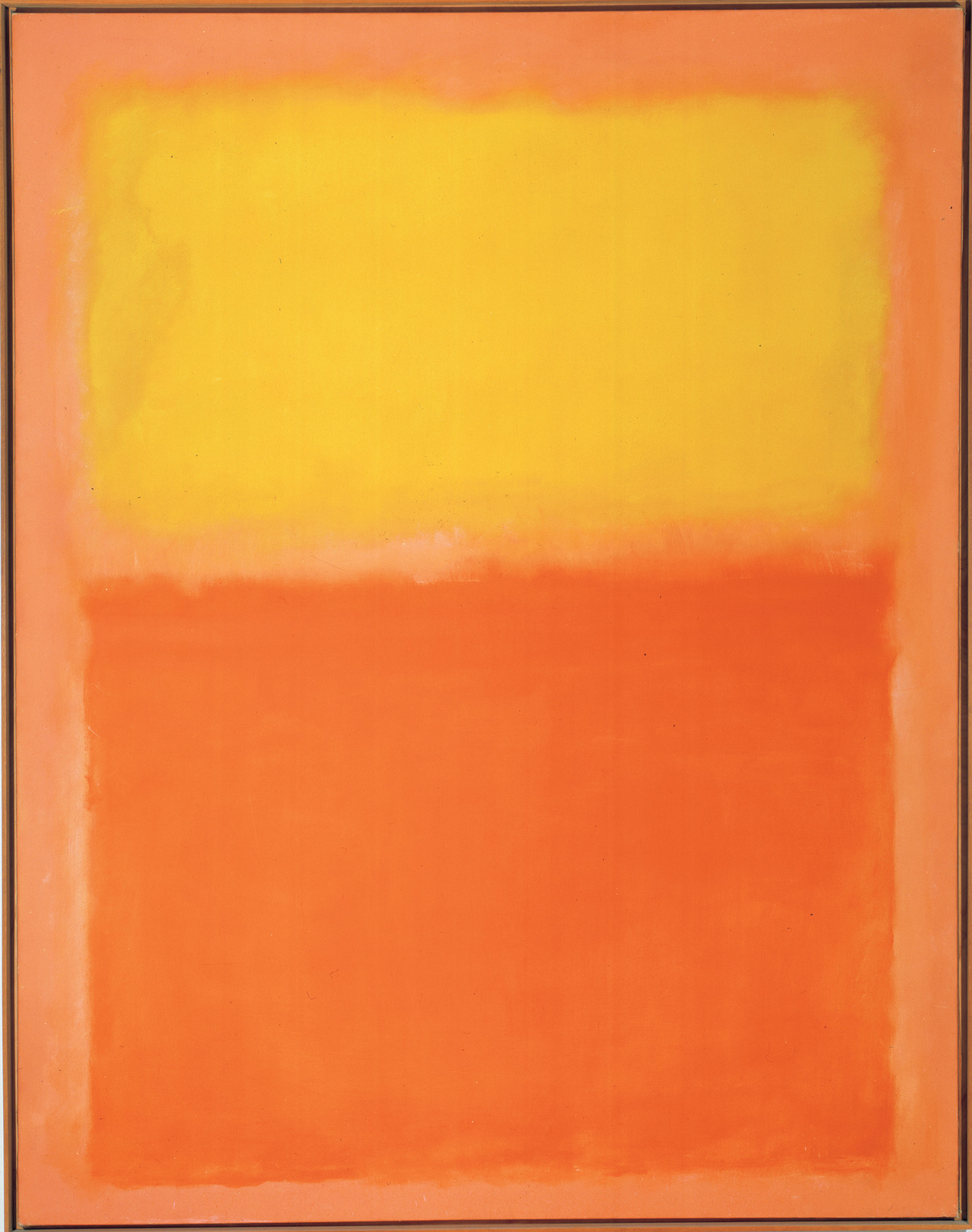 "albrightknox :       Docent Stories: Mary Therrien     Fifth Graders Respond to Mark Rothko's  Orange and Yellow       In honor of our first   Art'scool  tour  of the season today, here's a favorite story from our docent Mary Therrien:     I led a group of fifth graders to  Mark Rothko's  Orange and Yellow , 1956 , and asked, ""Would anyone want this painting in their bedroom?""     A boy's hand shot up, and he said, ""Yes!""     ""Why?"" I asked.     ""Because I see a pillow (yellow) and a blanket (orange).""     Then, a second boy's hand went up, and he said, ""Me too!""     ""Why?"" I asked.     ""I want it directly across from my bed. When I wake up in the morning, I'll see a sunrise (yellow), and when I go to bed at night, I'll see a sunset (orange).""    Image: © 1998 Kate Rothko Prizel & Christopher Rothko / Artists Rights Society (ARS), New York"