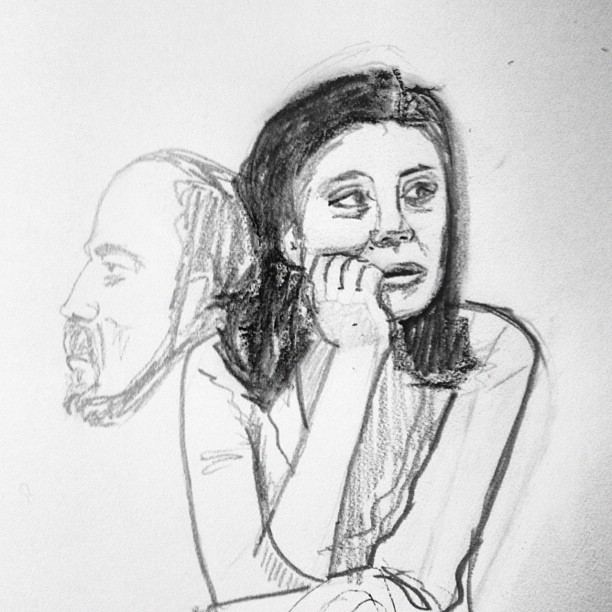 Portland people #sketch (Taken with  Instagram )