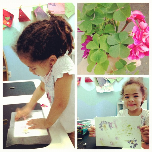 Making plant prints with my buddy Ali! (Taken with  Instagram  at Jamaroo Kids)