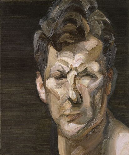 Lucian Freud, Man's Head, Self-Portrait III, 1963   oil on canvas   National Portrait Gallery, London    Lucian Freud's paintings have always served as an inspirational display of the human form for me. In reading through the various retrospectives on his personal life I am frustratingly reminded of his role as a reckless misogynist. A bit of a monster, but with the ability to captivate many - myself included.