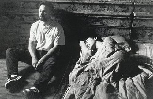 austinlhewitt :       David Fincher and Edward Norton on the set of  Fight Club