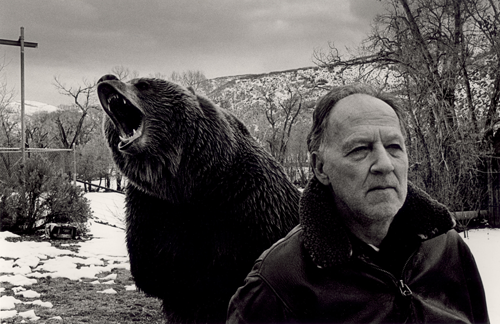 fuckyeahdirectors: Werner Herzog on set of Grizzly Man.