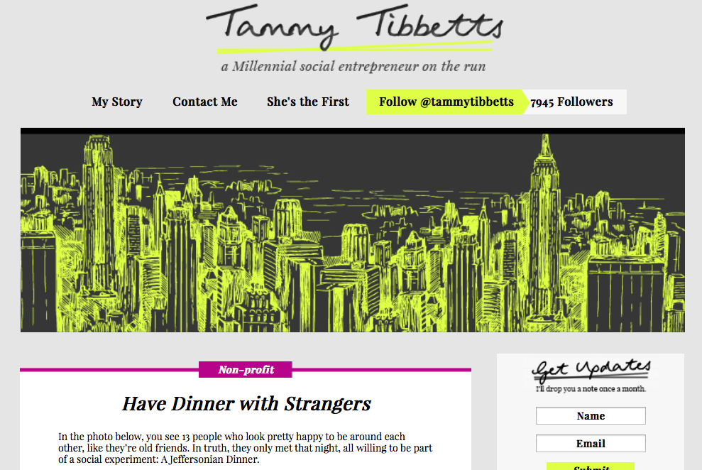 Have Dinner with Strangers by Tammy Tibbets
