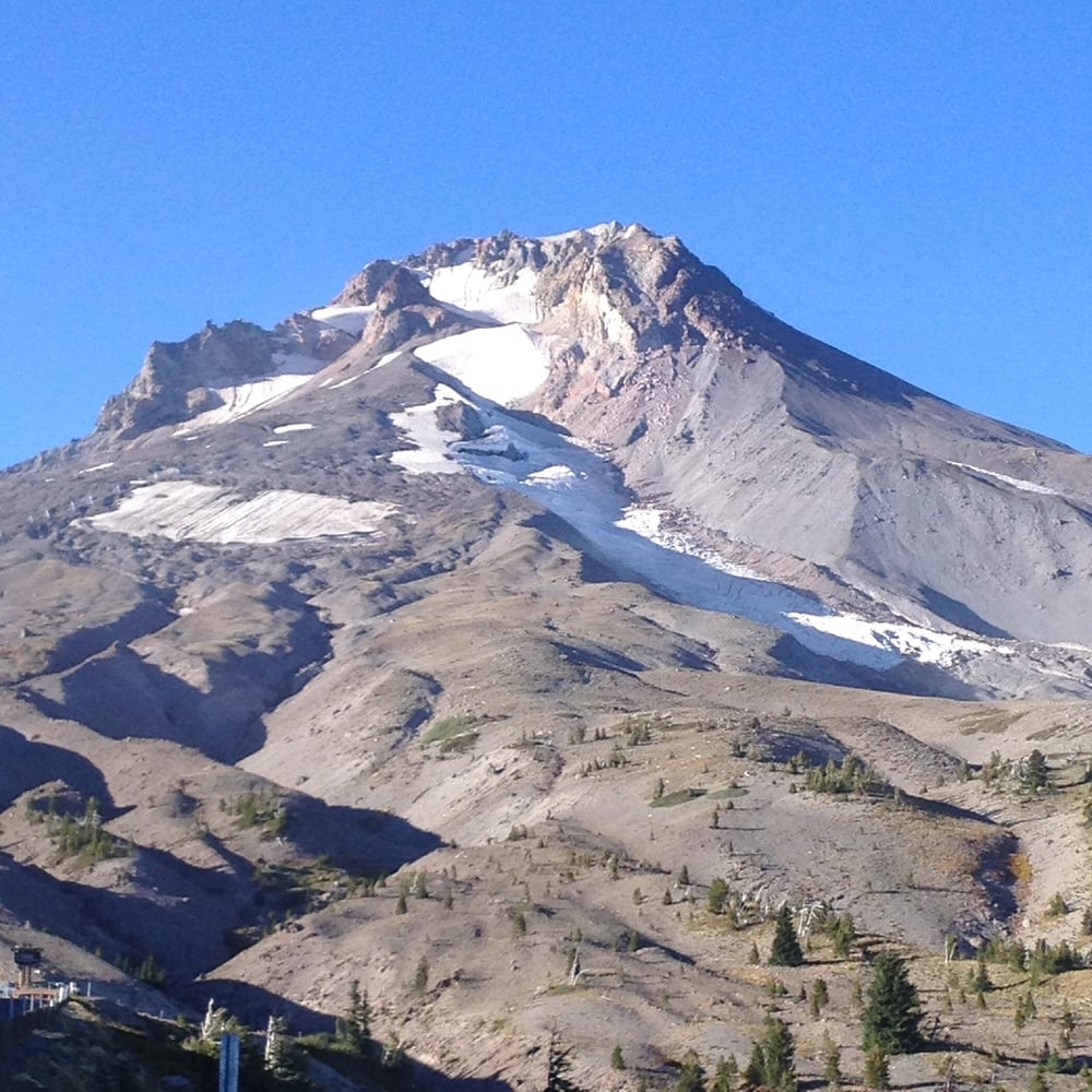 Peak of Mt Hood summer 2015