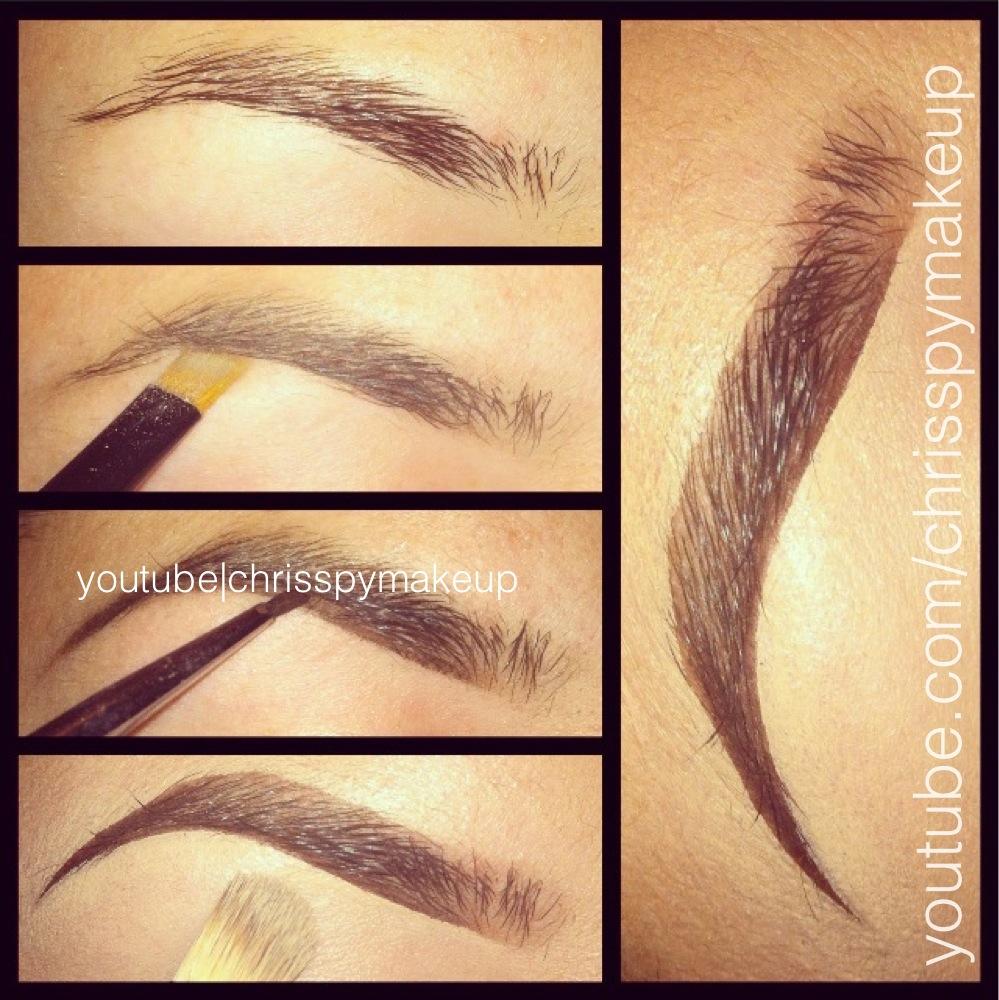 New Brows Steps Chrisspy Makeup