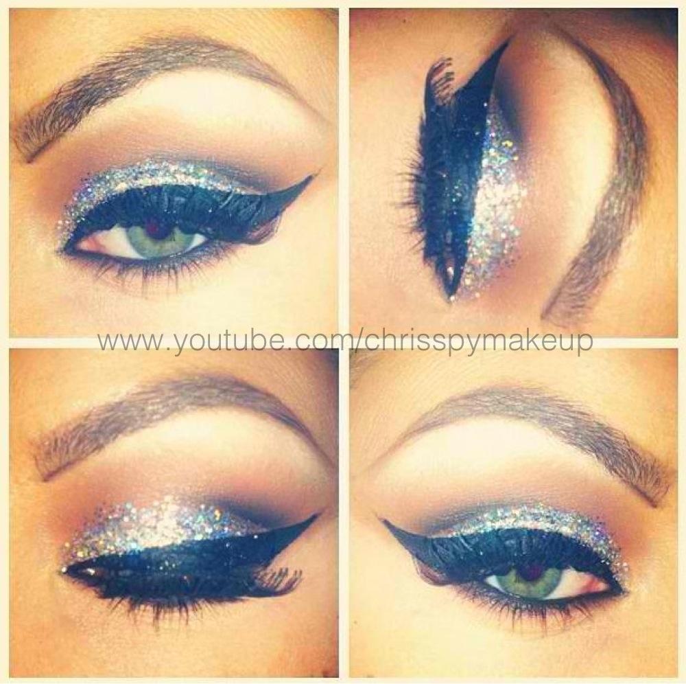 Throw Back Thursday Silver Glitter Chrisspy Makeup