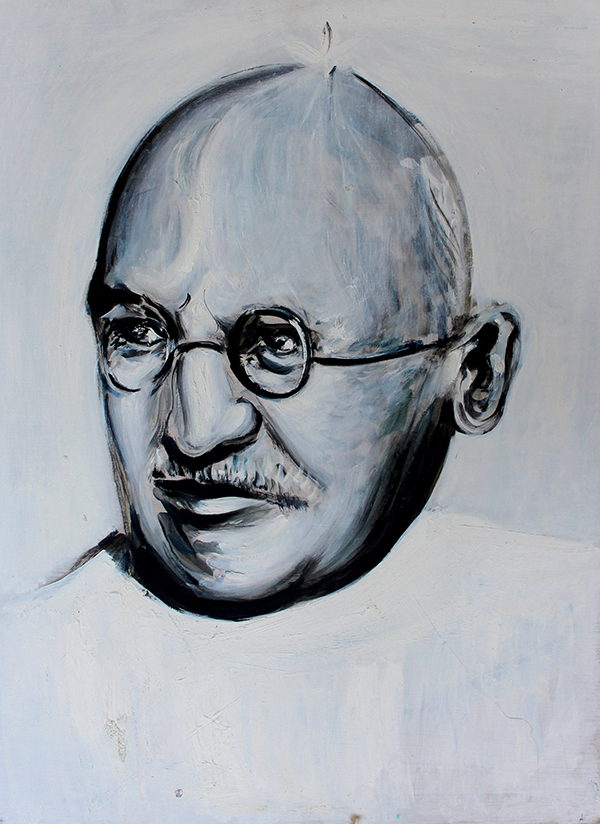 Alex Carletti Visionary Art Gandhi