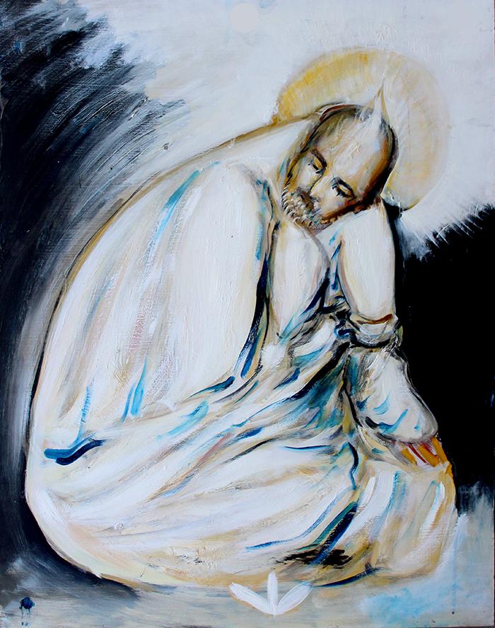 Alex Carletti Visionary Art Neem Karoli Baba