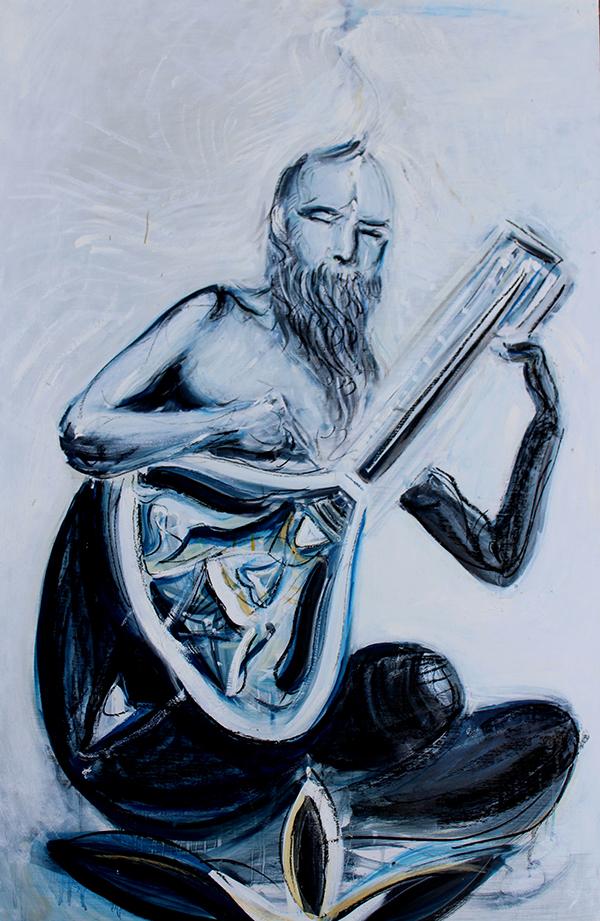 Alex Carletti Visionary Art Sitar Maestro