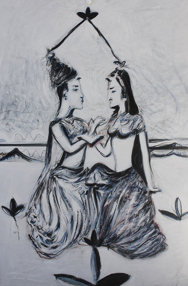 Alex Carletti Visionary Art Krishna Radha