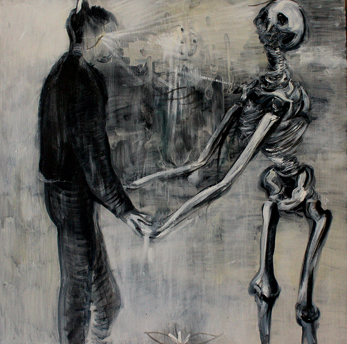 Alex Carletti Visionary Art Holding Hands With Death