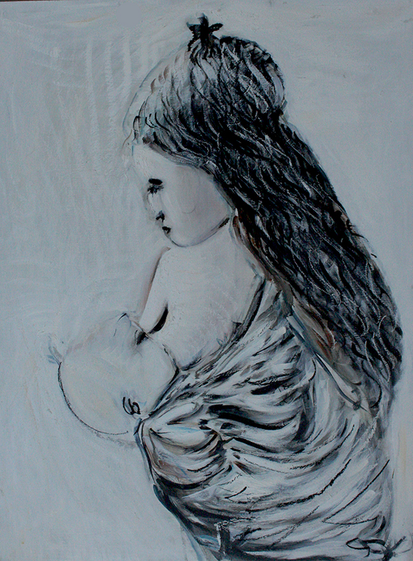 Alex Carletti Visionary Artist Mother and Child