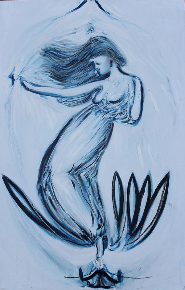 Alex Carletti Visionary Artist Blue Muse ascending