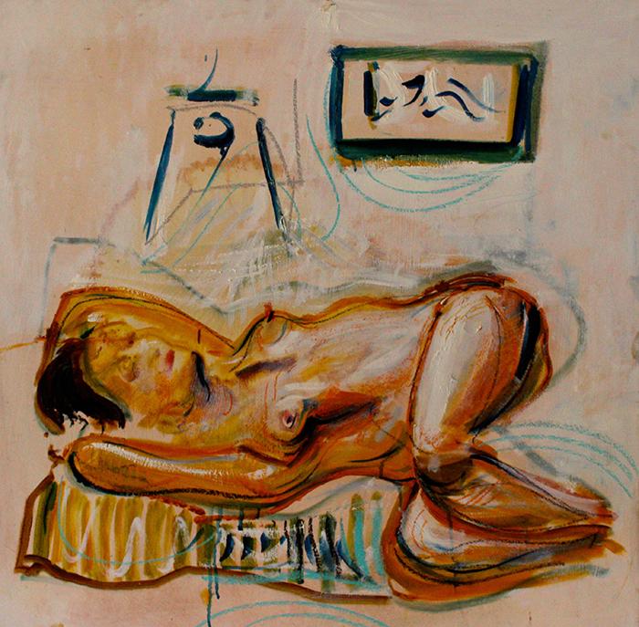 Alex Carletti Visionary Artist Reclining Nude
