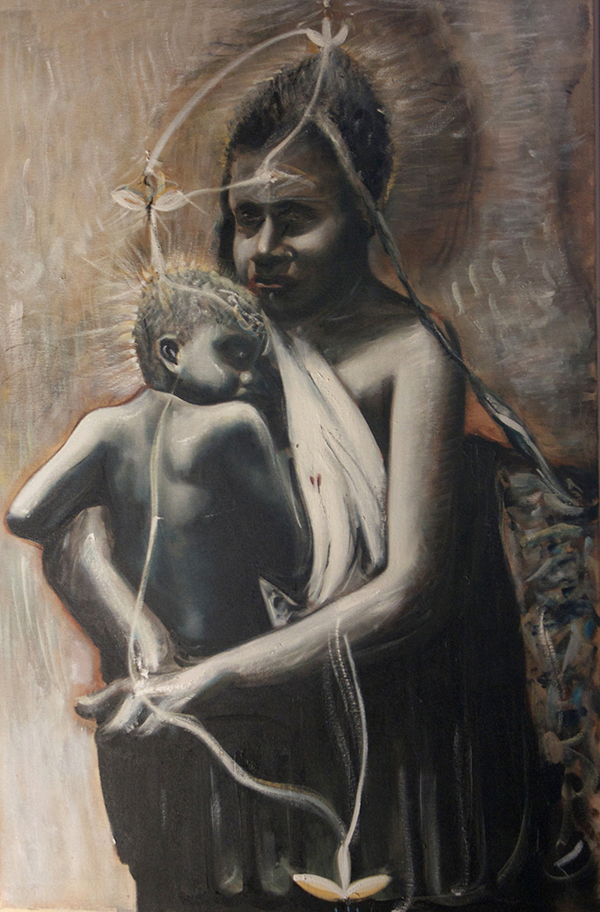 Alex Carletti Visionary Artist Cosmic Mother and Child