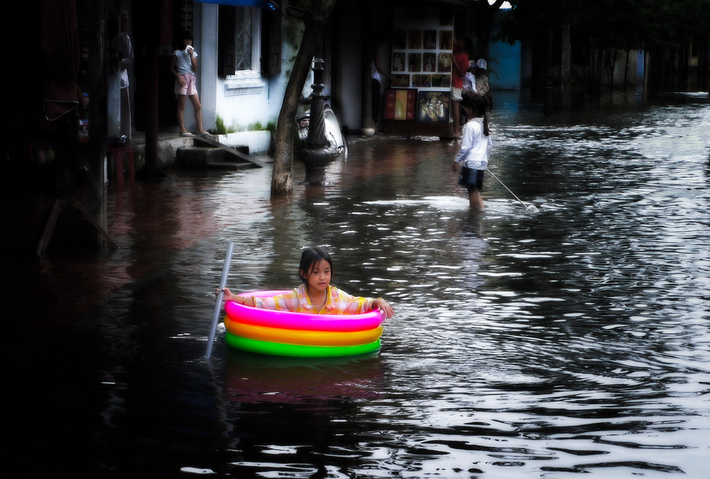 Hoi An, Vietnam during the floods of 2008
