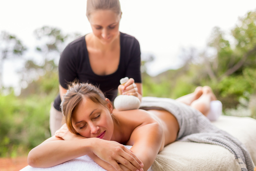 A blissful massage delivered outdoors at Injidup Spa retreat - Spa and resort photographer LANEWAY