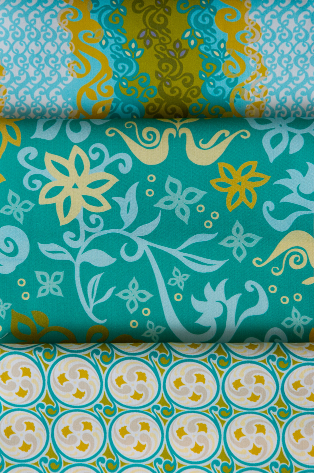 FolkFusion-intense collection available at Spoonflower.com