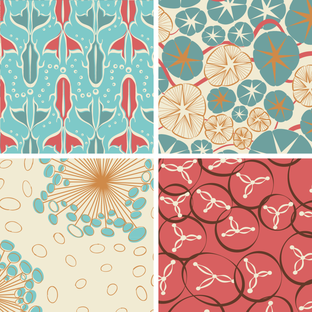 Oceana Collection, available soon at Spoonflower.com