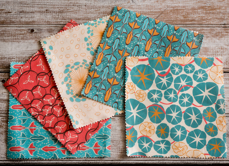 Prints from the  Vintage Oceana collection  available at  Spoonflower .