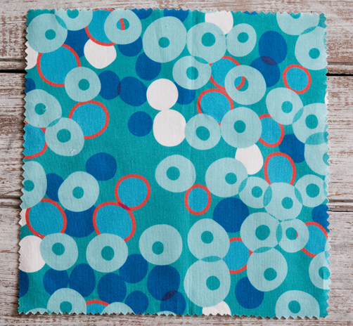 Cocktail Dots blues-2  printed on Kona cotton.