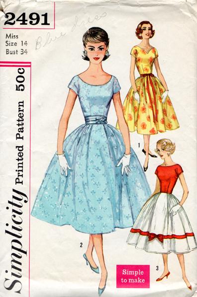 vintage Simplicity pattern 2491