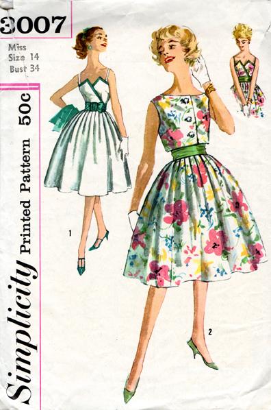 vintage Simplicity pattern 3007