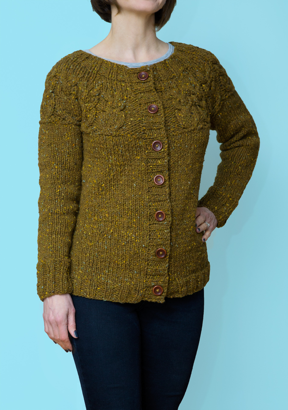 Owls Cardigan, finished!