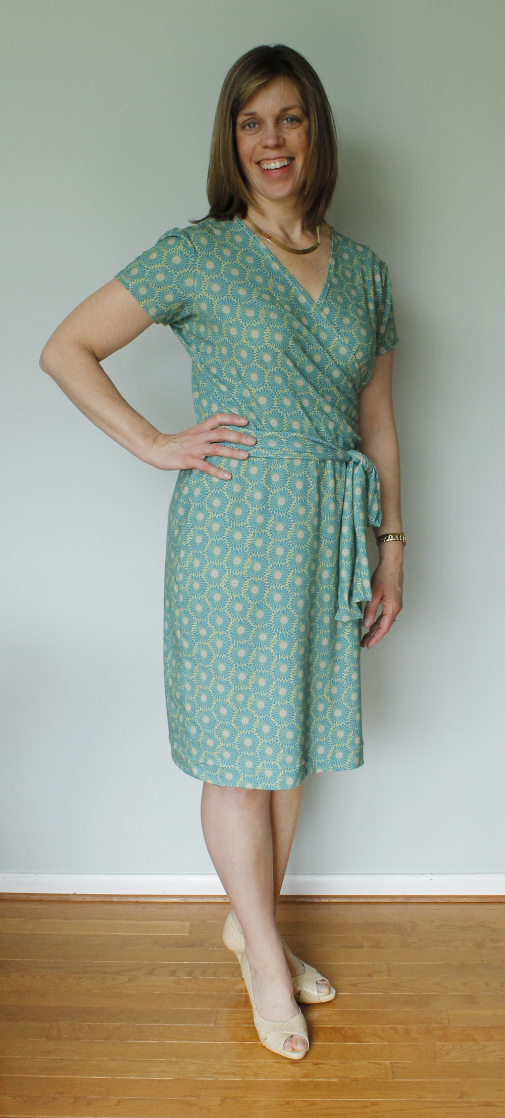 Beautiful Beth in her wrap dress.