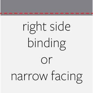 Tutorial narrow knit facing modern print craft a binding is an edge finish that uses a strip of fabric typically cut on the bias for woven fabrics and on the cross grain for knits to enclose the raw malvernweather Images