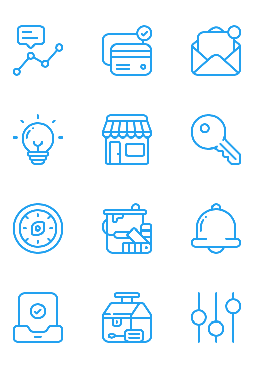 Primary icon set built for marketing and product use