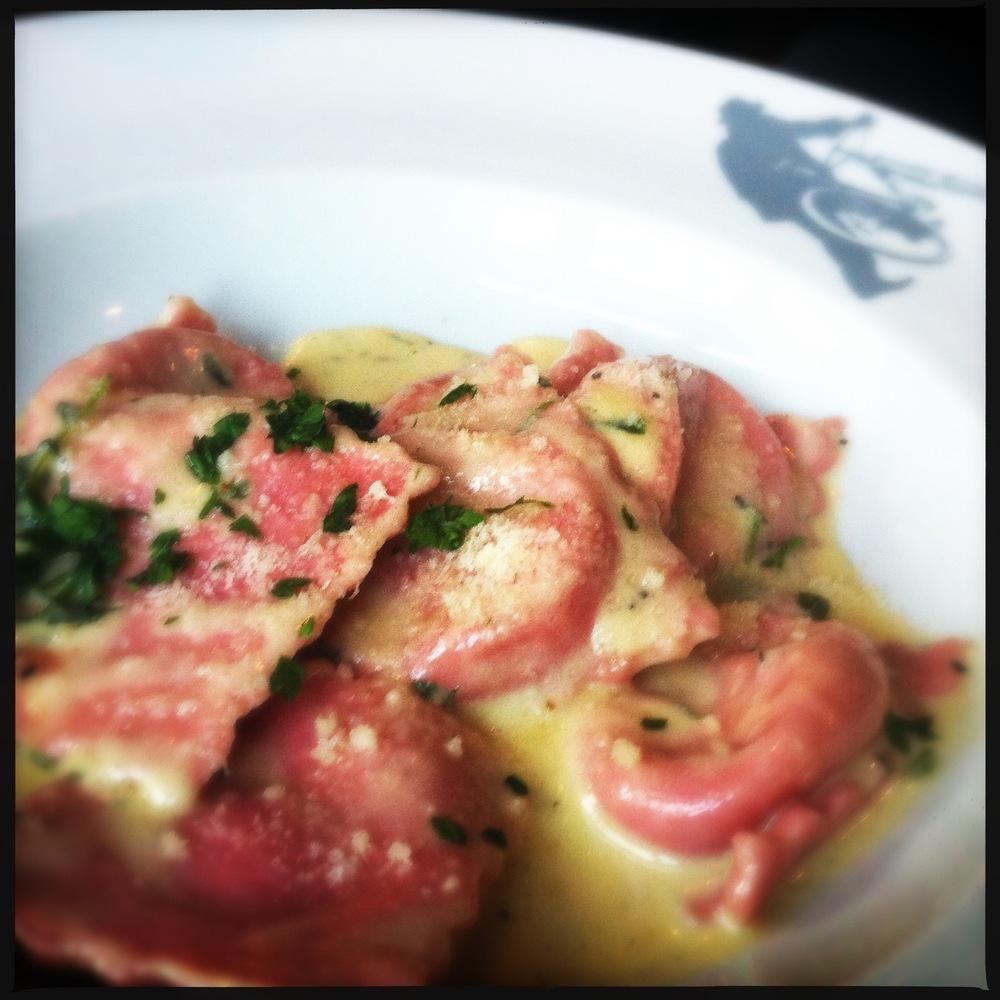 Red ravioli