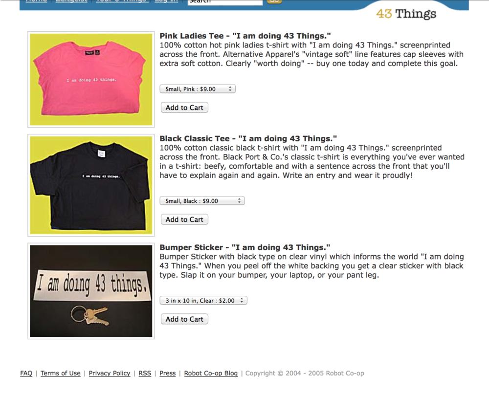 43 Things secret store.