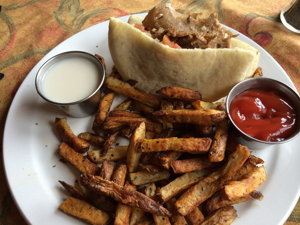 Vegan Seitan Donair at The Wooden Monkey