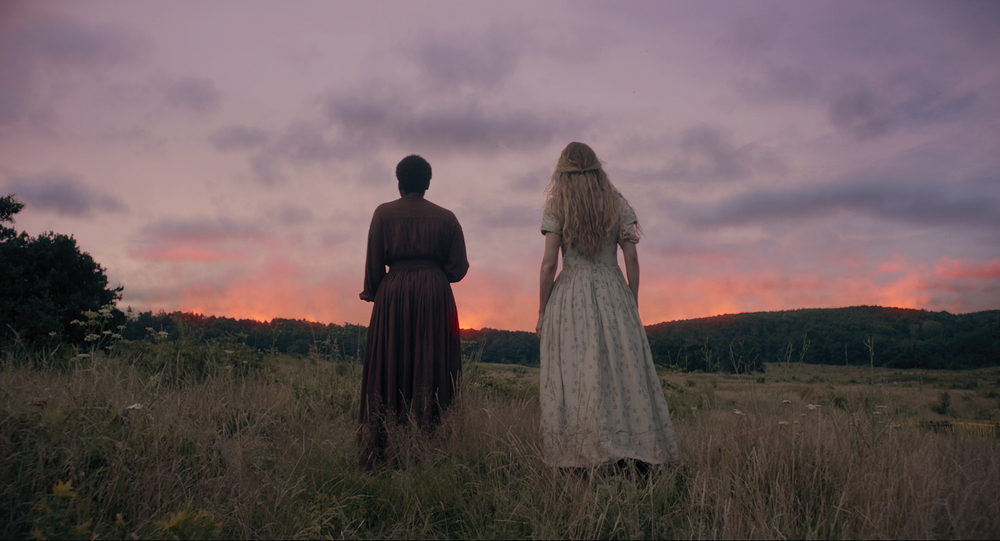 Muna Otaru and Brit Marling in The Keeping Room
