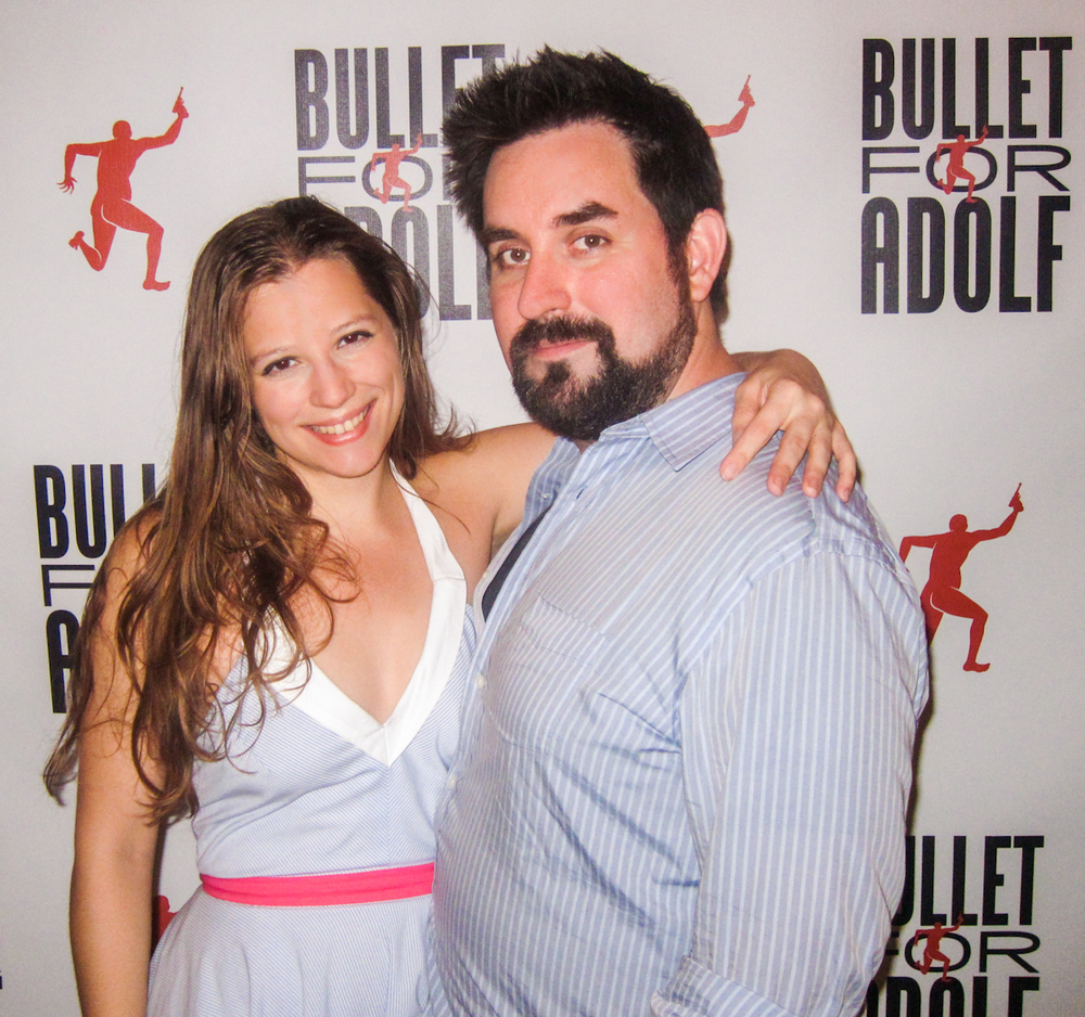 Emily Davis and Will O'Hare celebrate the Opening Night for Bullet For Adolf