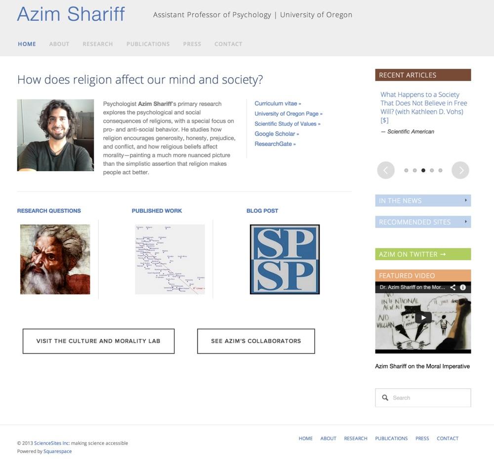 Visit Azim's ScienceSite