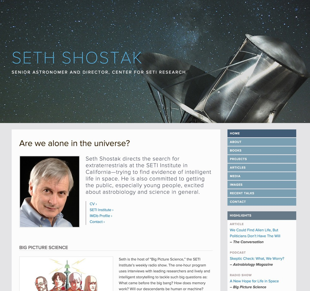 Visit Seth's ScienceSite