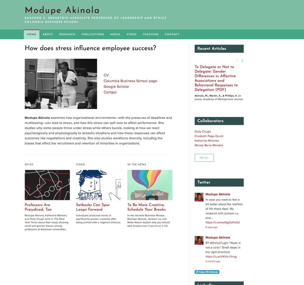 Visit Modupe's ScienceSite