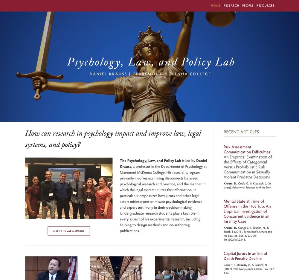 Visit the Psychology, Law, and Policy Lab's ScienceSite
