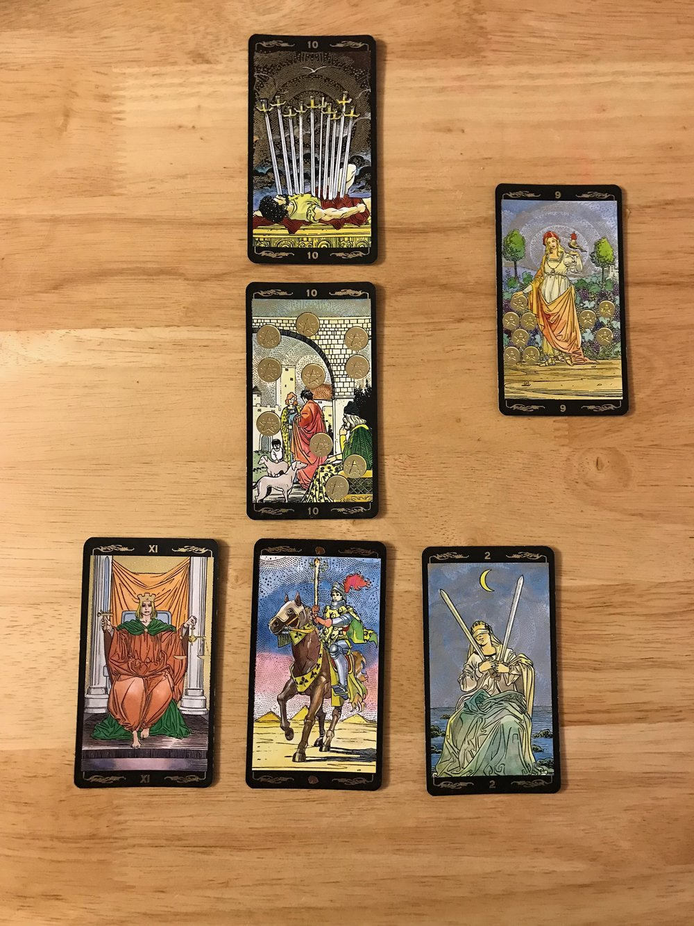 Deck: Golden Universal Tarot by Lo Scarabeo