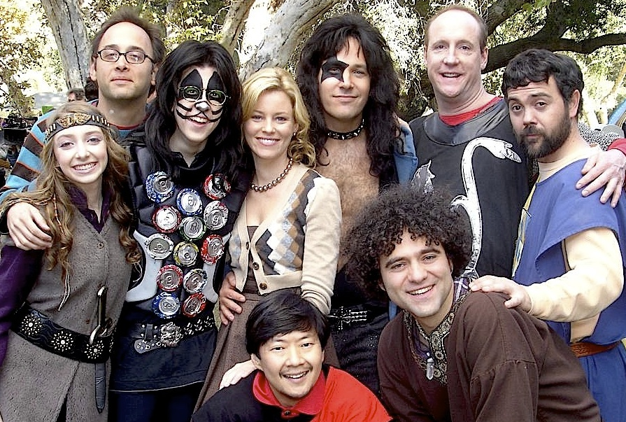 On the set of  Role Models.  Allie Stamler, David Wain, Christopher Mintz-Plasse, Elizabeth Banks, Ken Jeong, Paul Rudd, Peter Salett, Matt Walsh, Joe Lo Truglio) 2007
