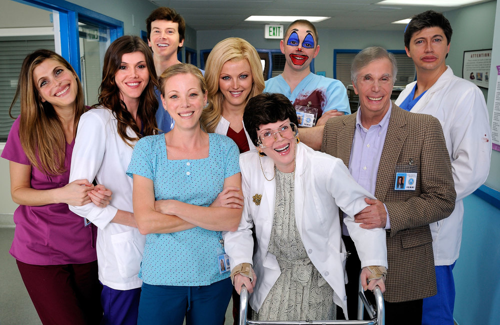 Childrens Hospital cast with slight retouching by DW.