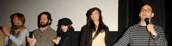 Introducing The Ten cast members A.D. Miles, Paul Rudd, Winona Ryder, Famke Janssen at Sundance 2007.
