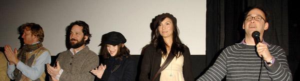IntroducingThe Tencast members A.D. Miles, Paul Rudd, Winona Ryder, Famke Janssen at Sundance 2007.