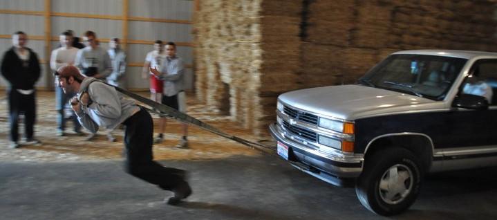 man wars truck pull clayton