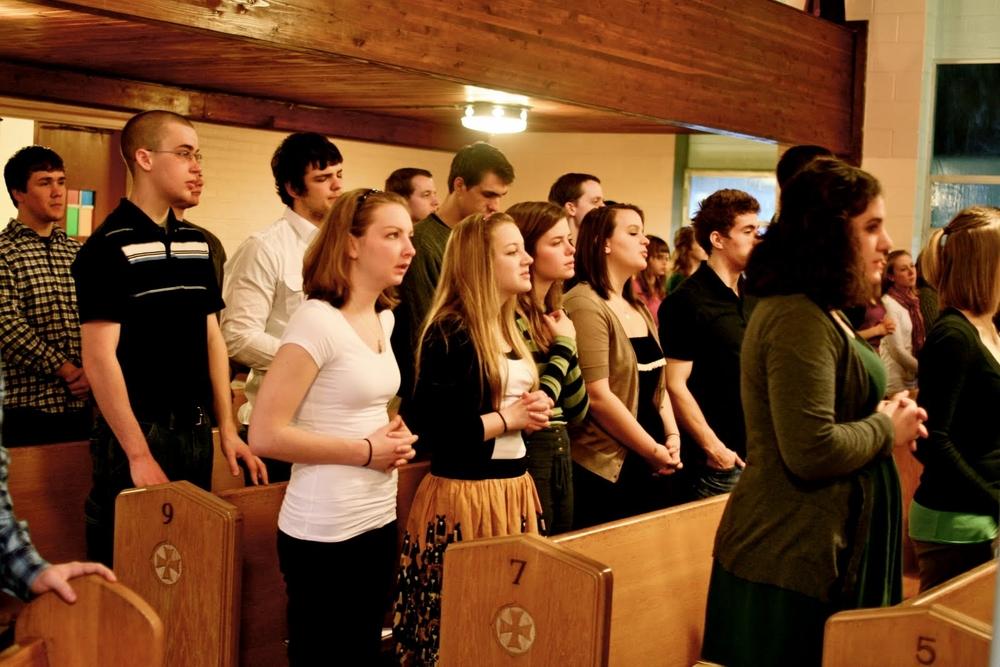Fif girls at Mass