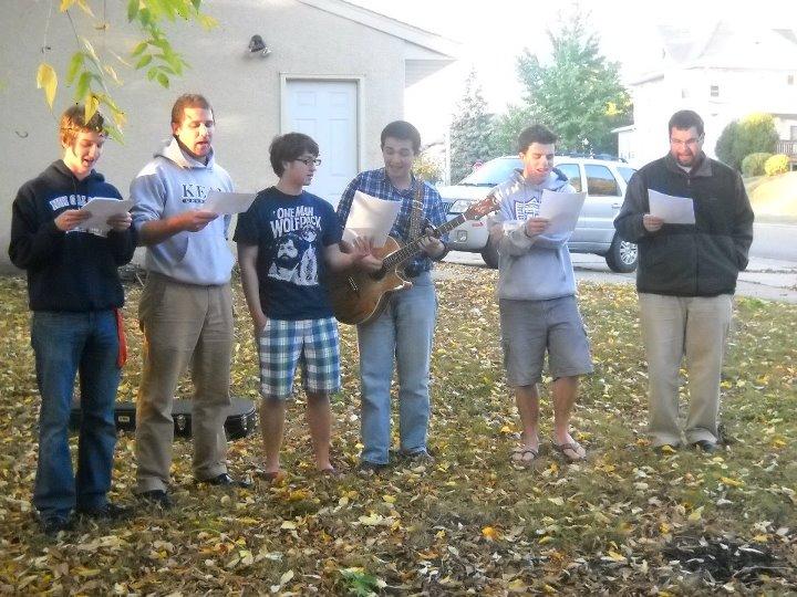 MN Men Singing to MN Women House