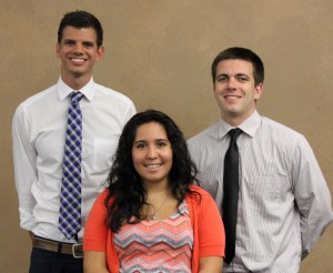 Arizona Staff from left to right: Abe Gross, Jaclyn Trevino, and Max Haben
